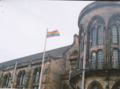(thismaudlincareer) Tags: scotland rainbow glasgow flag lgbt analogue praktica westend glasgowuniversity universityofglasgow glasgowuni prakticaltl paradies400