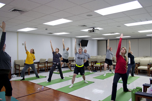 Soldiers and retirees practice reverse w by Army Medicine, on Flickr