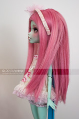 Profile (***Andreja***) Tags: pink monster high ooak makeup frankie wig dreams repaint andreja faceup nicolles
