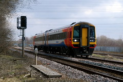 158770 (Sam Tait) Tags: diesel no north trains super class east multiple passenger signal 158 midlands unit willington jn sprinter staffs aspect 158770 dy299