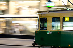 Helsinki tram on Aleksanterinkatu (Muhonion) Tags: city detail suomi finland landscape spring helsinki finnland cityscape capital tram stadt helsingfors publictransport stad maisema aleksanterinkatu kevät kaupunki yksityiskohta raitiovaunu pääkaupunki julkinenliikenne kaupunkimaisema nikkor35mm18 nikond7000