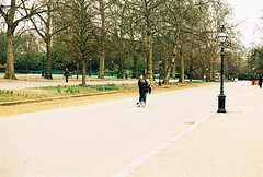 Roll 2 - Skaters (Cris Ward) Tags: park camera old city uk orange color colour slr london film yellow rollei analog 35mm vintage landscape daylight frozen movement lomo xpro lomography warm cross britain crossprocess grain slide retro hyde crossprocessing april hydepark analogue manual noise processed e6 yashica serpentine highspeed blown colorshift lsi c41 2013 yashicafxd colorreversal cr200 lomolab digibase rolleidigibasecr200