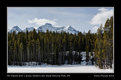 Mt. Niblock from a frozen Herbert Lake, Banff National Park, Alberta (kgogrady) Tags: park trees mountain lake snow canada mountains west color colour tree green rock clouds landscape rockies frozen spring nikon highway solitude skies afternoon mt natural g rocky noone peak sunny ab bluesky nopeople canadian mount national alberta parkway western banff rockymountains peaks nikkor fx herbert 93 afs banffnationalpark parkscanada ifed icefieldparkway herbertlake highway93 2013 niblock cans2s mountniblock calgarypubliclibraryphotographyclub mtniblock d800e nikon2470mmf28fxafsgednikkor