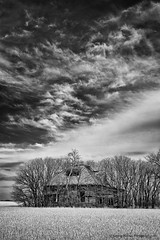 (ir guy) Tags: old trees bw white house black oklahoma clouds ir farm rustic bowl abandon forgotten infrared homestead farmer dust plains ok chasing rundown wwwirvisionscom