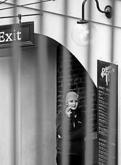Having a Smoke - Covent Garden (Canoon 500D & EF 85mm F1.8) (markdbaynham) Tags: city people urban bw white black london canon garden lens eos break candid capital 85mm smoking covent cropped f18 dslr ef sensor 500d apsc