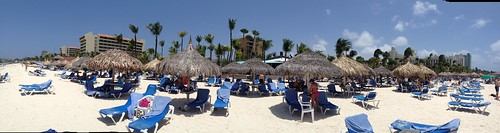 At Palm Beach in Aruba