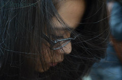 Hair. (Peneelope) Tags: black girl hair nikon wind nero vento ragazza capelli d5100