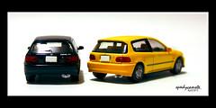 SiR and VTi (speedycamote) Tags: eh honda lumix model olympus panasonic civic ek sir ef hatchback eg tomica vti m43 mft gf2 scle tomytec