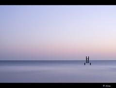 l  X  l (Just me, Aline) Tags: longexposure sunset sea holland netherlands zonsondergang nederland zee le minimalism westkapelle d800 minimalisme langesluitertijd leefilters bigstopper