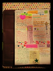 Week 12, first part (ideabook.se) Tags: color pen diy calendar diary journal postit todo dots agenda filofax kendal washitape