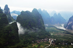 Limestone hills & Lijiang river 漓江 相公山 (MelindaChan ^..^) Tags: china cloud house mist tree nature weather rock fog rural river day village cloudy guilin hill hills mel limestone layers melinda 漓江 shape karst lijiang guangxi 桂林 topography landform 廣西 石灰岩 countrysdie 喀斯特地形 chanmelmel melindachan 相公山