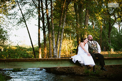 Sal + Erika (ZekaG) Tags: bridge wedding love nature water creek groom bride sitting quiet small peaceful weding sacramento flowing marysville yubacity brownsville scerene brownsvalley lixximphotography willowcreekevents