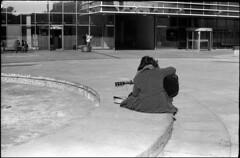 (spacephoenix) Tags: blackandwhite bw musician music film girl 35mm spring guitar stock grain streetphotography fed ilford guitarist lithuania vilnius fed3 selfdeveloped id11 industar61 ilfordpan100 epsonv500