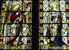 Buckland, Oxfordshire (Sheepdog Rex) Tags: stainedglass annunciation buckland stmarythevirginchurch