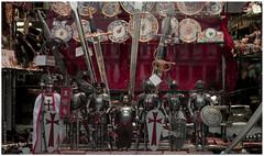 Small Medieval Warriors (FERN/\NDO /\LBORNOZ) Tags: madrid tourism handicraft toys store medieval warriors typical showcase figures spades