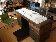 Treadmill in! (juhansonin) Tags: art mill standing table design hardware desk interface steps engineering science daily health software restoration studios tread healthcare treadmill rh inserts printmakers lifespan sonin involution juhan juhansonin invo goinvo lifespanfittness