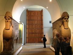 Colossal Human-headed Winged Bull (jball359) Tags: england london statue stone amazing unitedkingdom britishmuseum assyrian colossalhumanheadedwingedbull