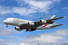 A6-EOA Airbus A380-861 Emirates (R.K.C. Photography) Tags: uk england london unitedkingdom aircraft uae emirates airbus a380 ek lhr airliners egll londonheathrowairport a380861 canoneos100d ek29 a6eoa