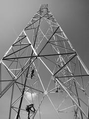 Lattice tower, Yangon, Myanmar (Harri Suvisalmi) Tags: lattice tower rigging rigger yangon rangoon myanmar burma nokia telecoms telecommunications training heightd safety