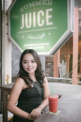 Alonely (andrawayan) Tags: bali balinese woman pose young beautiful cafe ubud