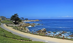 The blue sky and the blue sea (zgrial) Tags: landscape seaside coast pacificocean sky blue monterey california usa springtime zgrial