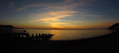 Aberystwyth sunset panorama (Scozmo's Photery - Uploader down again??) Tags: sunset seascape panorama wales aberystwyth water sea pier skies