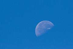 Eclipse (Peter Meade) Tags: petermeade pjmeade moon eclipse airliner canoneos7dmarkii canonef100400mmf4556lisusm