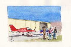 Pilotos (Fotero) Tags: dibujo acuarela watercolor aviacion ulm ultraligero viladamat usk urbansketch urbansketcher urbansketching hangar pilotos aerodromo