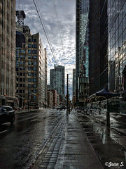 After the rain (Jean S..) Tags: clouds building street shadow rain rainy toronto perspective summer outdoor windows