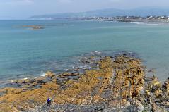 Round Wales Walk 42 - Rocks in the Sea (Nikki & Tom) Tags: walescoastpath ceredigion wales uk borth sea coast bay