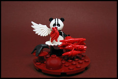 Paindah (Karf Oohlu) Tags: lego moc minifig crow panda meat flesheating carcass blackandwhite