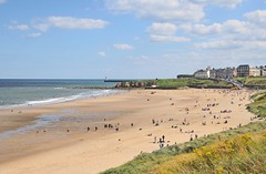 August day on Tynemouth Sands (Vee living life to the full) Tags: tynemouth sands beach resort tourism tourist nikond300 memories sea rocks swimmingpool pier northshieldspier south shields people playing waves