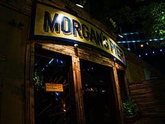 Morgan's Pier (raymondclarkeimages) Tags: raymondclarkeimages rci 8one8studios usa em5mk2 mirrorless omd morganspier philly philadelphia delawareavenue pennslanding columbusblvd drinks bar olympus mzuiko1240mm28 sign micro43 microfourthirds night noflash availablelight food dock water river craftbeer cocktails restaurant entertainment beergarden delawareriverwaterfront