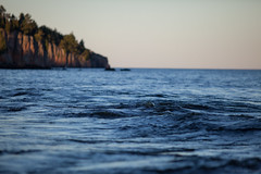 Waters of Lake Superior (michaelraleigh) Tags: 200mm bokeh landscape f28l serene highquality canon statepark tettegouche beautiful longshot infocus trees lake outdoors sunset unitedstates secluded lakesuperior minnesota