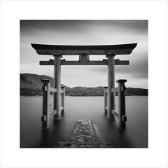* Hakone Shrine * (^soulfly) Tags: longexposure japan 2011 oldarchieve izuperfecture lakeashi kanagawa canon5dmark2 ef1740mmf40 bwfilter nd110 familytrip torii gate scared holy zen