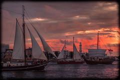 Hanse Sail Rostock <3 (LB-fotos) Tags: sailing ship boat hanse sail segelschiff rostock hansesail sunset sonnenuntergang ocean meer ostsee baltic sea coast kste warnemnde germany deutschland lighthouse leuchtturm