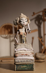 Smira (fantoche art dolls) Tags: fantoche oana micu art dolls papusi objects theatrical costumes doll stand scenography magical nostalgia