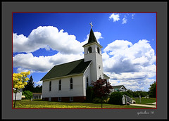 Church in the UP (the Gallopping Geezer 3.8 million + views....) Tags: church worship faith religion religious building structure white rural country countryside backroads mi michigan upperpeninsula canon 5d3 tamron 28300 geezer 2016