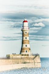 A postcard from Roker (munkehmans) Tags: beach coast coastline coatline lighthouse northeast northeastengland northern roker rokerlighthouse rokerpier sea seaside sky sunderland tyneandwear waves wearside