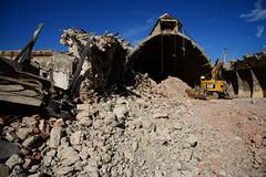 "Demolition job ""Potash"" warehouses DST_5465 (larry_antwerp) Tags: euroports potas magazijn warehouse demolition afbraak antwerp antwerpen       port        belgium belgi          aertssen caterpillar excavator"
