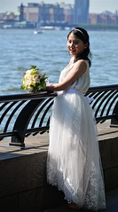 A Bride in NYC (pjpink) Tags: bride bridal woman wedding white dress manhattan river hudsonriver nyc newyork newyorkcity ny june 2016 summer pjpink
