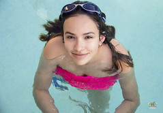 Soaking Wet Smile (SteveFrazierPhotography.com) Tags: swimming swimmer water pool girl youngwoman teen teenager wet googles hair smile smiling stevefrazierphotography may 2016 beautiful person portrait