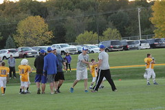 1484 (bubbaonthenet) Tags: 09292016 game stma community 4th grade youth football team 2 5 education tackle 4 blue vs 3 gold