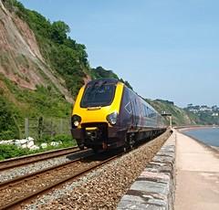 Seaside Train (Hugo D'luvly) Tags: train olympus devon uk seaside england teignmouth 918mm railway e520 zuiko