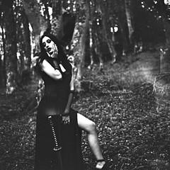 "Lumina 2016 (""Olivier Jules"") Tags: rolleiflex ilford valeria leporati fantasy mistery wood bosco hard job ladu lady woman girl donna blow mind blackandwhite portrait ritratto strega fata film pellicola analogic"