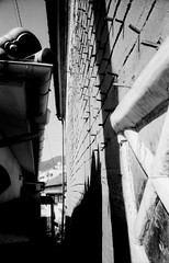 (hora, asleep) (Dinasty_Oomae) Tags: leica leicaiiia leica3a  iiia 3a   blackandwhite blackwhite monochrome bw outdoor   hiroshima   kure  storehouse