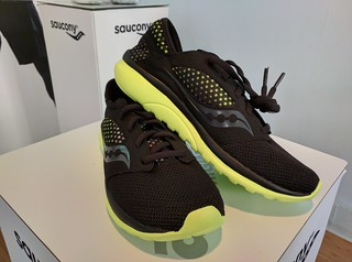 Saucony shoes at EGPR Essentials Lounge