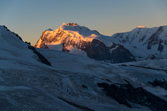 Alpenglow II (glosoliCH) Tags: ifttt 500px switzerland wallis valais alps mountains backcountry outdoors glacier alpenglow dawn morning mountaineering hiking schweiz landscape travel alpen berge bergsteigen morgen dmmerung alpenglhen gletscher wandern monte rosa