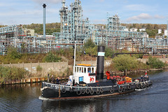 'Kerne' Weston Point 3rd October 2016 (John Eyres) Tags: kerne weston point ici rocksavage runcorn weaver river canal tug msc manchestershipcanal