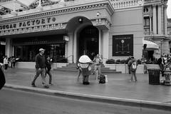 Las Vegas Blvd (Colton Davie) Tags: minions store 2014 canoneoselan7 bw march lasvegas street people roadtrip ilforddelta100 nevada film 35mm iso100 xtol